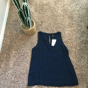 Forever21 NWT navy blouse tank
